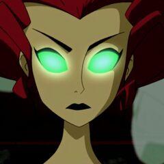 Pamela becomes Poison Ivy.