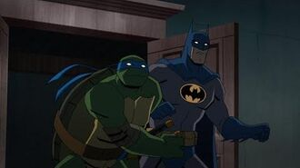 "Batman vs. TMNT - clip ""Batman vs Turtles"""