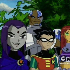 Raven states that she'll have fun with Beast Boy's real name, Garfield.