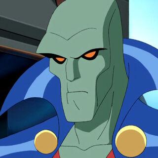 Martian Manhunter assumes his hero form.