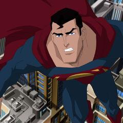 Superman in Flight.