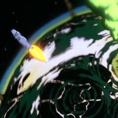 Kal-El's spaceship leaving Krypton.