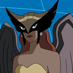 Hawkgirl just before she's discovered.