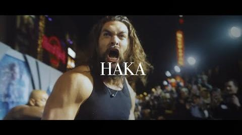 HAKA Aquaman premiere Jason Momoa