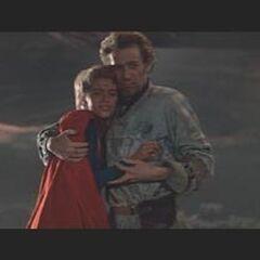 Zaltar and Supergirl in Phantom Zone