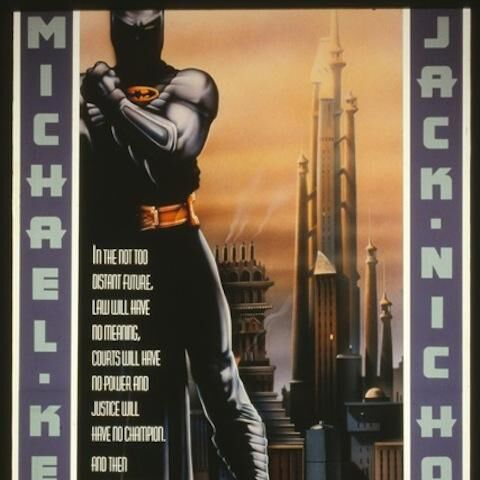 Unused poster from <i>Batman</i>.