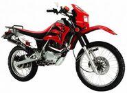 Red Enduro style dirt bike op 800x587