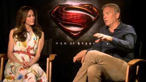 Człowiek ze stali - Wywiad Kevin Costner i Diane Lane