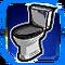 BI Toilet Blue