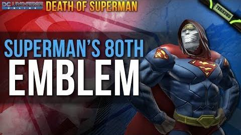 DCUO Superman's 80th Emblem Death of Superman