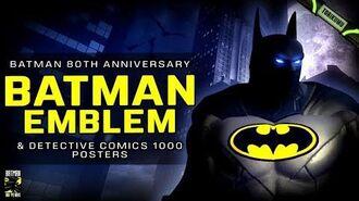 DCUO Batman Emblem and Detective Comics 1000 Cover Set Base Items