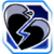 Icon Broken Heart Blue