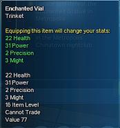 Enchanted Vial Stats