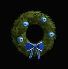 Blue Lantern Holiday Wreath