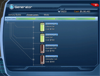 Generator - Power Level Tab