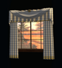 Window with White Drapes