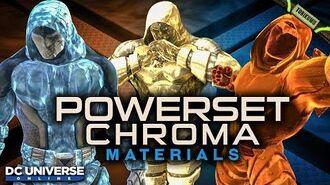 DCUO Powerset Chroma Materials (Resurgence Mega Capsules - October 2019)