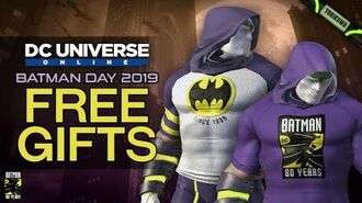 DCUO Batman Day 2019 Free Gifts