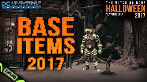 DCUO Halloween Event 2017 Base Items