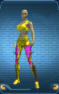 LegsGoldTrigonicPantsDarkBlueGlowFemale