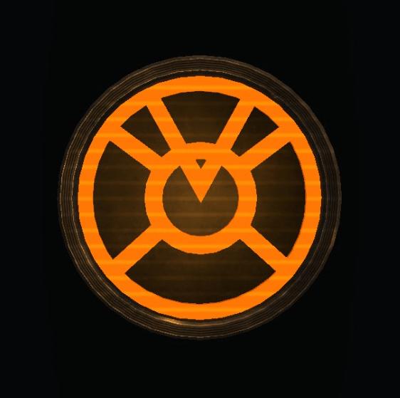 Superman Glowing Orange Lantern Shield by KalEl7 on DeviantArt