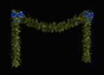 Blue-Trimmed Garland