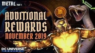 DCUO Episode 35 Additional Rewards - November 2019 - Snake Turret, Drachma Material and More!