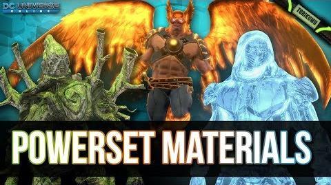 DCUO Powerset Materials