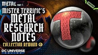 DCUO Episode 35 Mister Terrific's Metal Research Notes Collection Reward - T-Sphere Totem Base Pet