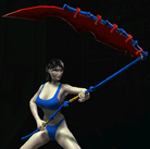 Brutal Yoddish Scythe equipped
