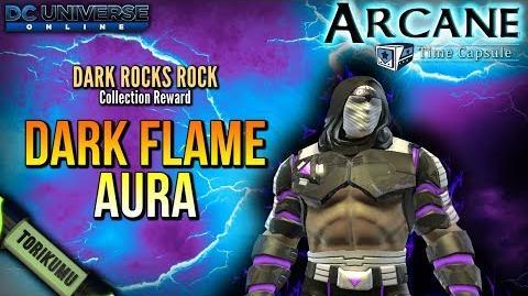 DCUO Dark Rocks Rock Collection Reward - Dark Flame Aura
