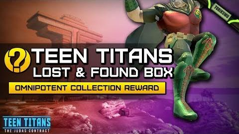 """DCUO Episode 32 """"Teen Titan's Lost and Found Box"""" Collection (Robin's Footwear of Omnipotence)"""