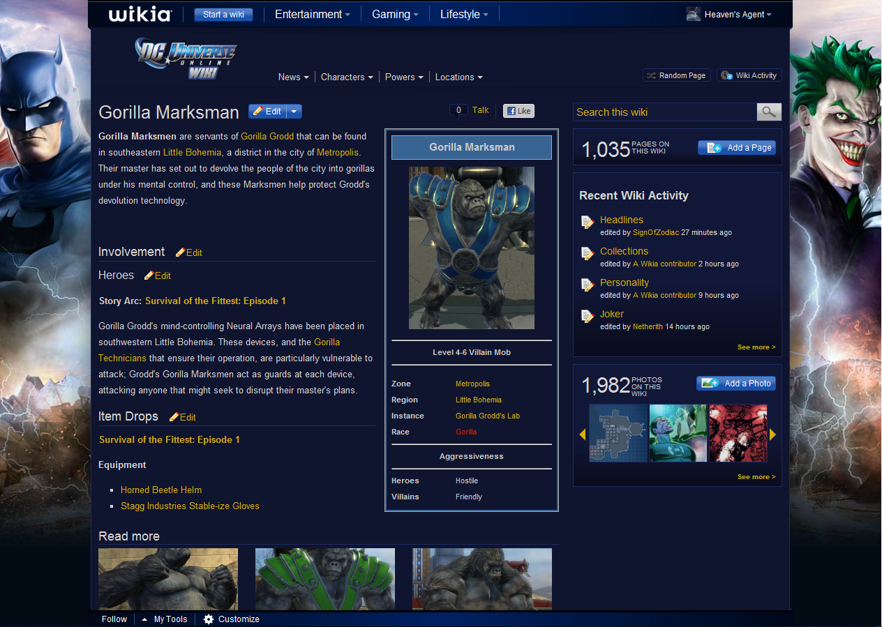 Forum:Character Page Formatting | DC Universe Online Wiki | FANDOM ...