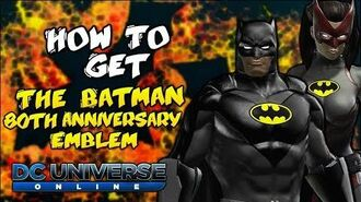 How To Get The Batman 80th Anniversary Emblem In DCUO