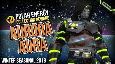 """DCUO Winter Event 2018 Aurora Aura """"Polar Energy"""" Collection Reward"""