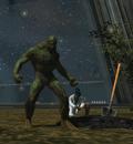 Swamp Thing and Sarah Charles (Watchtower)