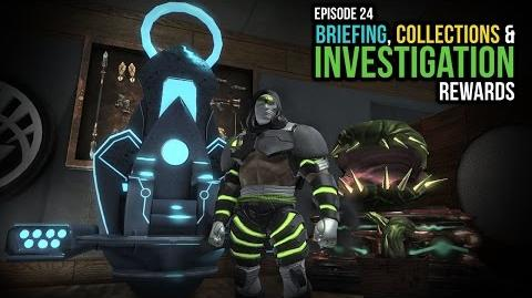DCUO Episode 24 Briefing, Collections & Investigation Rewards