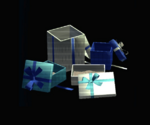 Open Scattered Blue Presents