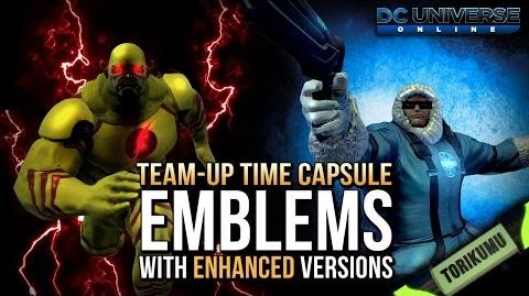DCUO Team-Up Time Capsule Emblems & Enhanced Emblems