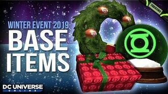 DCUO Winter Event 2019 Lantern Corps Holiday Decoration Base Items