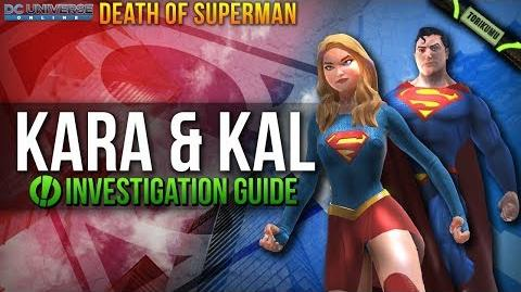 """DCUO """"Kara and Kal"""" Investigation Locations Guide Death of Superman"""