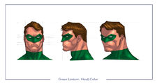 GreenLantern head color