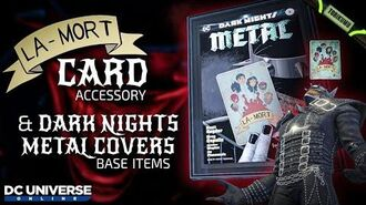 DCUO La Mort Card Accessory & Dark Nights Metal Cover Base Items Dark Knights Time Capsule