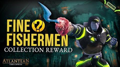 "DCUO ""Fine Fishermen"" Collection Reward - Commander's Harpoon Hands Style Atlantean Time Capsule"