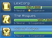 Villan Faction Renown
