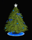 Blue-Trimmed Holiday Tree
