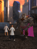 Gorilla Grodd with Scientists (Metropolis Anti-Matter Invasion Zone)