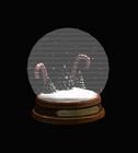 Candy Cane Snow Globe