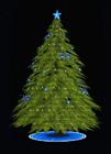Blue Lantern Holiday Tree (Large)