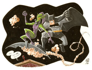 Bat Vs Goblin by OtisFrampton